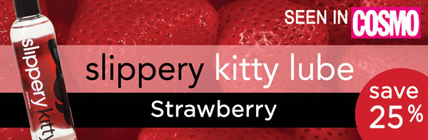 Slippery Kitty Strawberry Lube - Save 25%